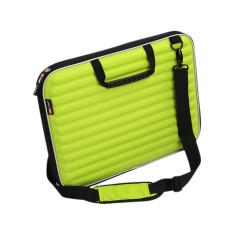 Laptop case in acid green