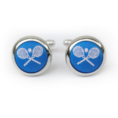 Tennis cufflinks in blue