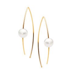 Gold and pearl ear wire