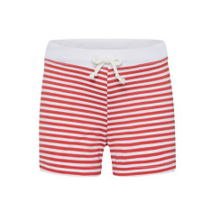 Boys' swimming trunks in red stripe
