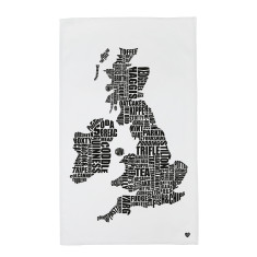 British Food Map Tea Towel