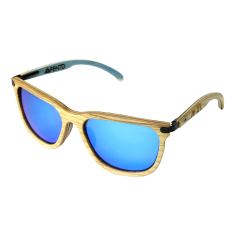 Fento wooden sunglasses in spectra ash black blue