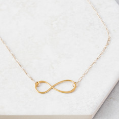 For All Time Gold Infinity Necklace