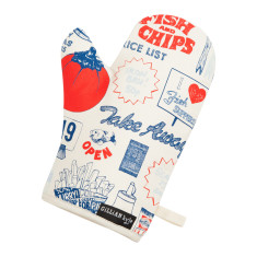 Fish & chips oven mitt