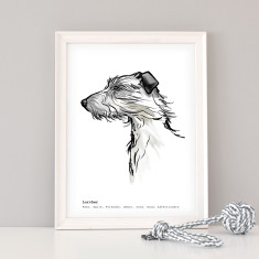 Lurcher Dog Art Print
