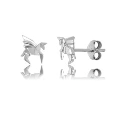 Pegasus Origami Stud Earrings