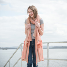 Alpaca & Linen Long Sleeveless Cardigan