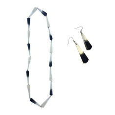 Biba Long Ombre Necklace + Drop Earrings Set (2 Colours Available)