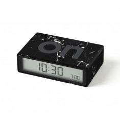 Black Marble Flip LCD alarm clock