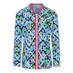 Girls' UPF 50+ Illusion Long Sleeve Sun Jacket with Zip