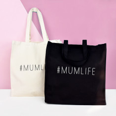 Mum life mother's day tote bag