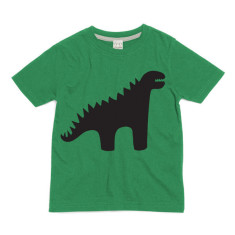 Kids' chalkboard t-shirt in dinosaur design