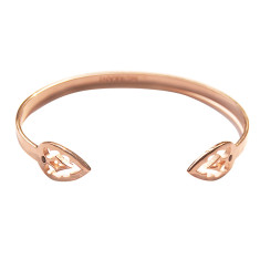 Casablanca open cuff in rose gold plate