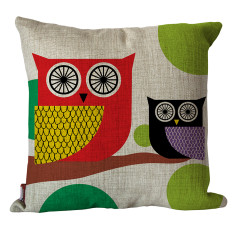 Mr and Mrs owl cushion cover