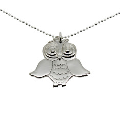Owl sterling silver necklace