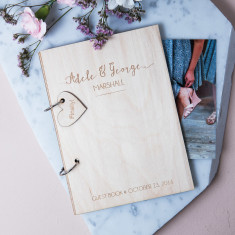 Personalised Modern Wedding Guest Book