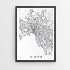 Melbourne minimalist map print