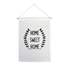 Home sweet home handmade wall banner