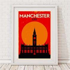 Vintage City Print - Manchester