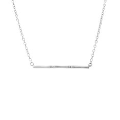 Bamboo Horizontal Necklace in Sterling Silver