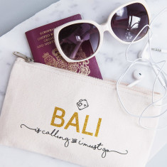Personalised Destination Is Calling Travel Pouch