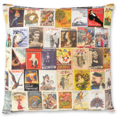 French Magazines linen cushion cover