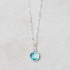 Annette birthstone charm necklace