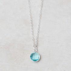 Annette birthstone charm necklace