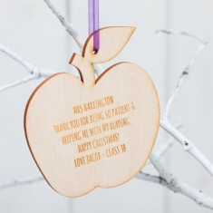 Personalised Teacher Christmas Baubles
