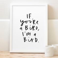 If you're a bird print