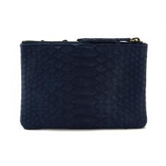 Saigon python purse in midnight blue