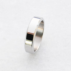 Classic men's ring in titanium and stainless steel
