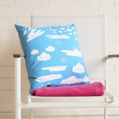 Sky Blue Cloud Types Cushion Cover