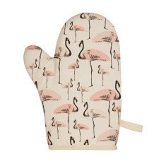Flamingo Party Oven Mitt