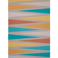 Blue moon modern flat weave cotton rug
