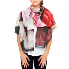 Cashmere Palette de Roses Printed Scarf