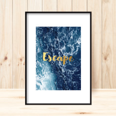 Oceanic escape art print