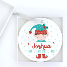 Personalised Little Elf Christmas Ornament