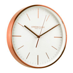 London Clock Company Artemis Copper Silent Sweep Wall Clock
