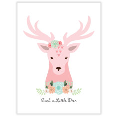 Such a little deer wall art print