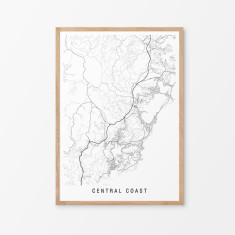 Central Coast minimalist map print