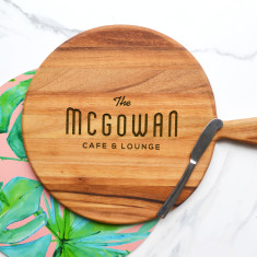 Personalised Cafe and Lounge Round Cheeseboard