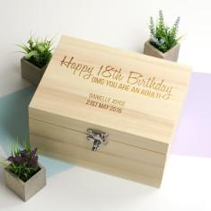 Personalised Happy 18th Birthday Keepsake Box