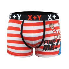 Men's where's wally peeker trunks