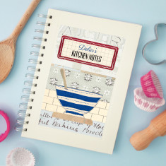 Personalised mixing bowl notebook