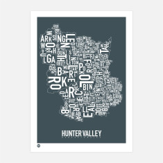 Hunter Valley typographic print