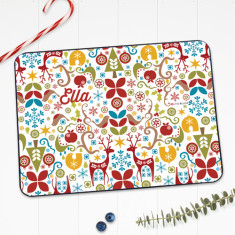 Yuletide personalised placemat