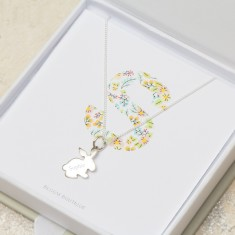 Personalised Sterling Silver Bunny Necklace