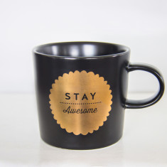 Stay awesome ceramic mug