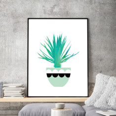 Cactus pot #3 art print (various sizes)